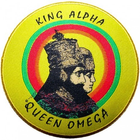 Sticker King Alpha Queen Oméga
